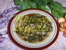Spinat mit Reis