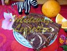 Zebrakuchen mit Orangen