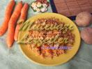 Colorido pilaf con anchoas