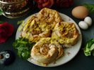 Rose Borek with Sausage Filling
