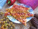 Pizza mit Würstchen