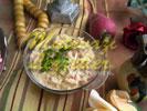 Салат из редиски с тахини