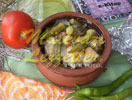 Casseroled Okra with Chicken