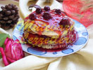 Pancake with Sour Cherries