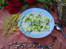 Bavettine Corti Suppe mit Joghurt