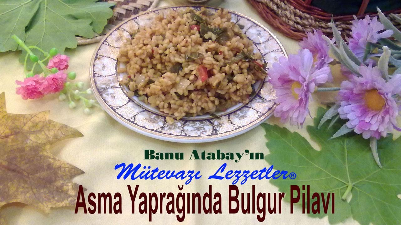 Asma Yapraklı Burgur Pilavı (görsel)
