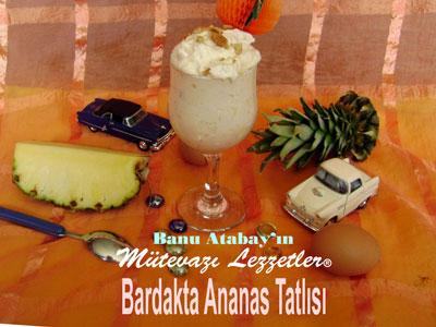 Bardakta Ananas Tatlısı (görsel)