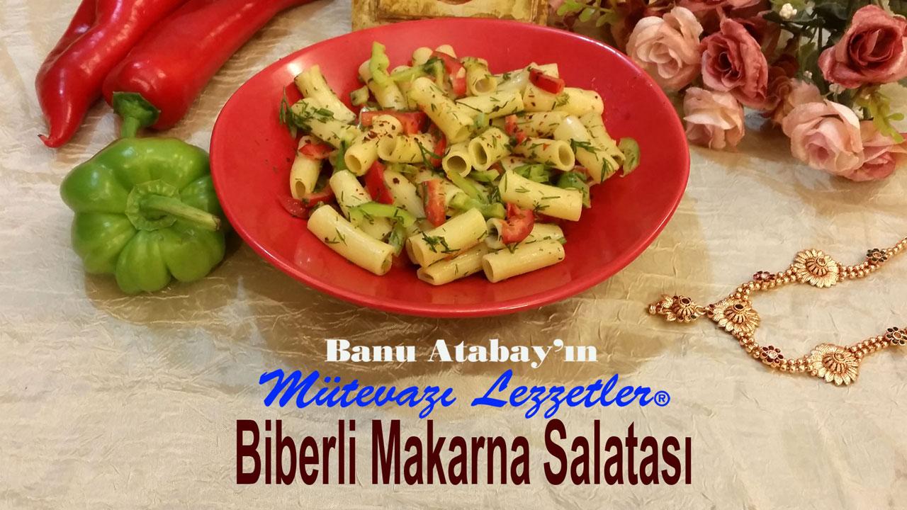 Biberli Makarna Salatasý (görsel)