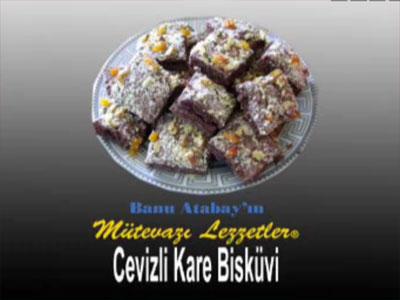 Cevizli Kare Bisküvi (görsel)