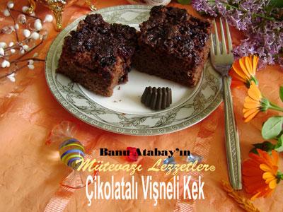 Çikolatalı Vişneli Kek (görsel)