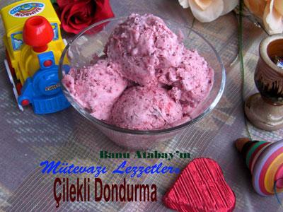 Çilekli Dondurma (görsel)