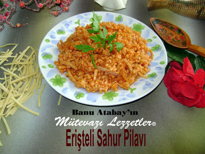 Eri�teli Sahur Pilav� (g�rsel)