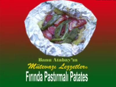 Fırında Pastırmalı Patates (görsel)