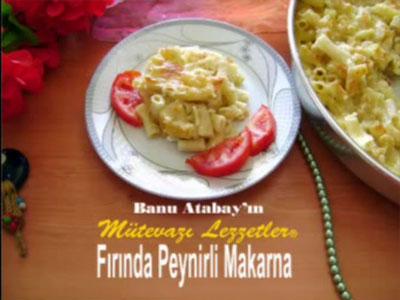 Fırında Peynirli Makarna (görsel)