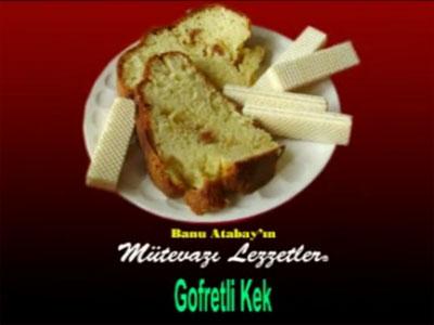 Gofretli Kek (görsel)