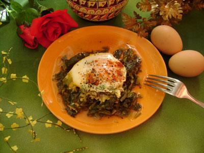Ispanaklı Yumurta (görsel)