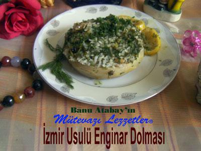 İzmir Usulü Enginar Dolması (görsel)