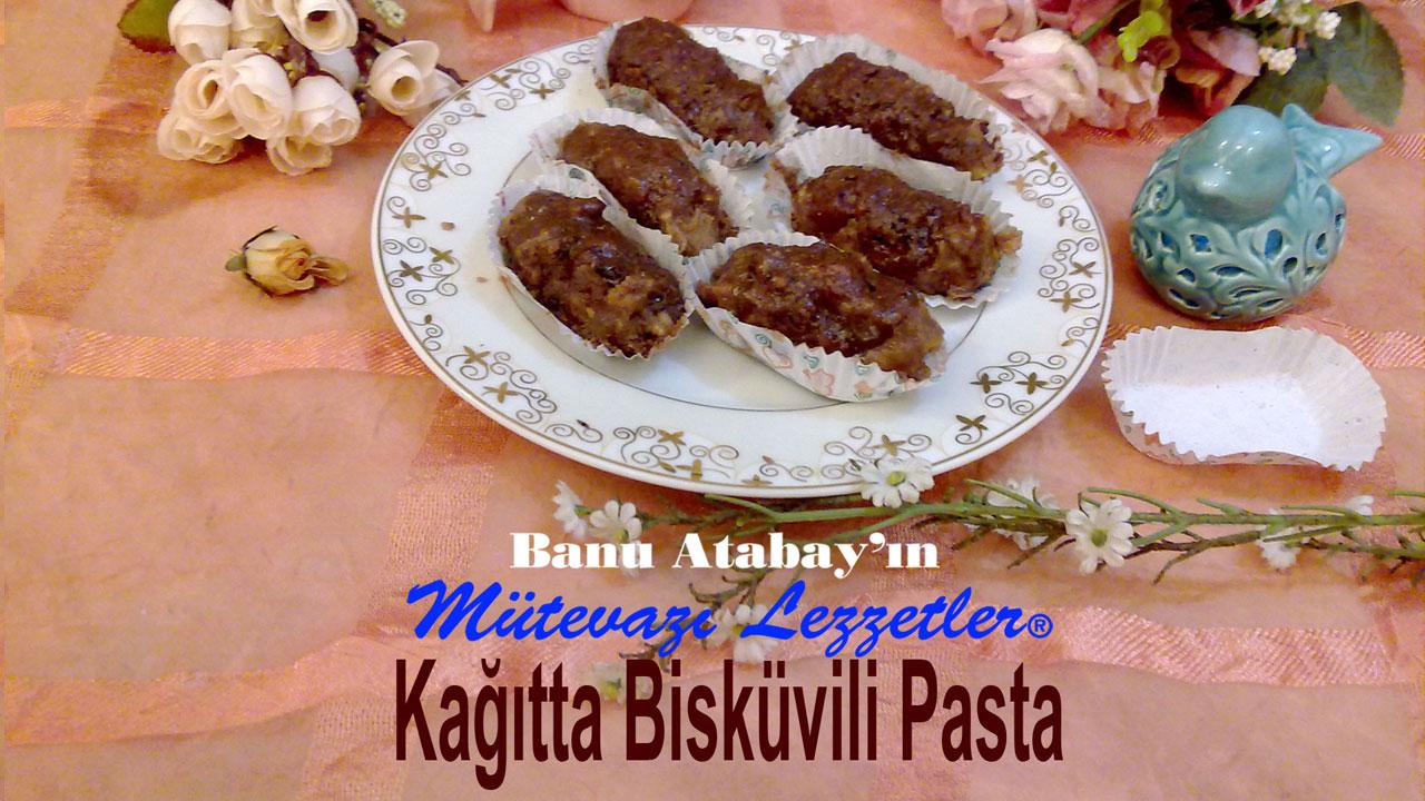 Kağıtta Bisküvili Pasta (görsel)