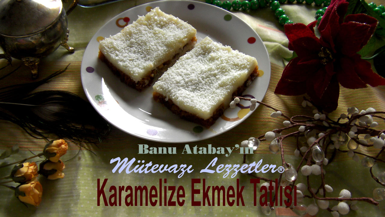 Karamelize Ekmek Tatlısı (görsel)