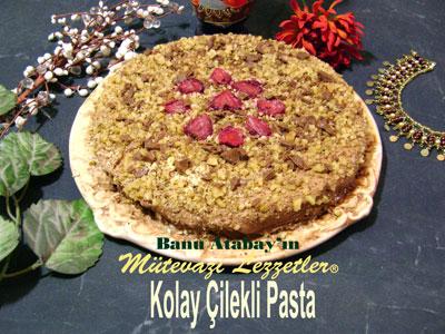 Kolay Çilekli Pasta (görsel)