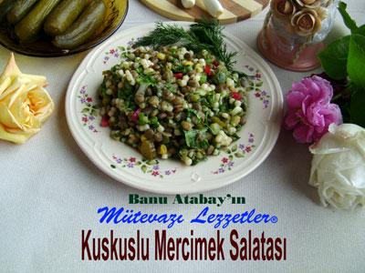 Kuskuslu Mercimek Salatası (görsel)