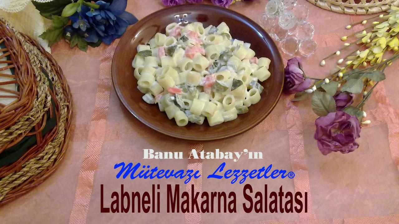 Labneli Makarna Salatası (görsel)