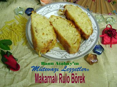Makarnalı Rulo Börek (görsel)