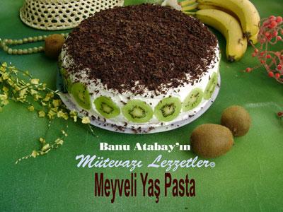 Meyveli Yaş Pasta (görsel)