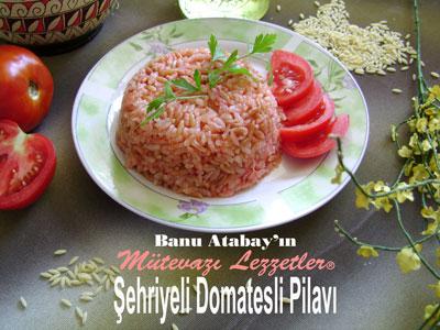 Şehriyeli Domatesli Pilav (görsel)