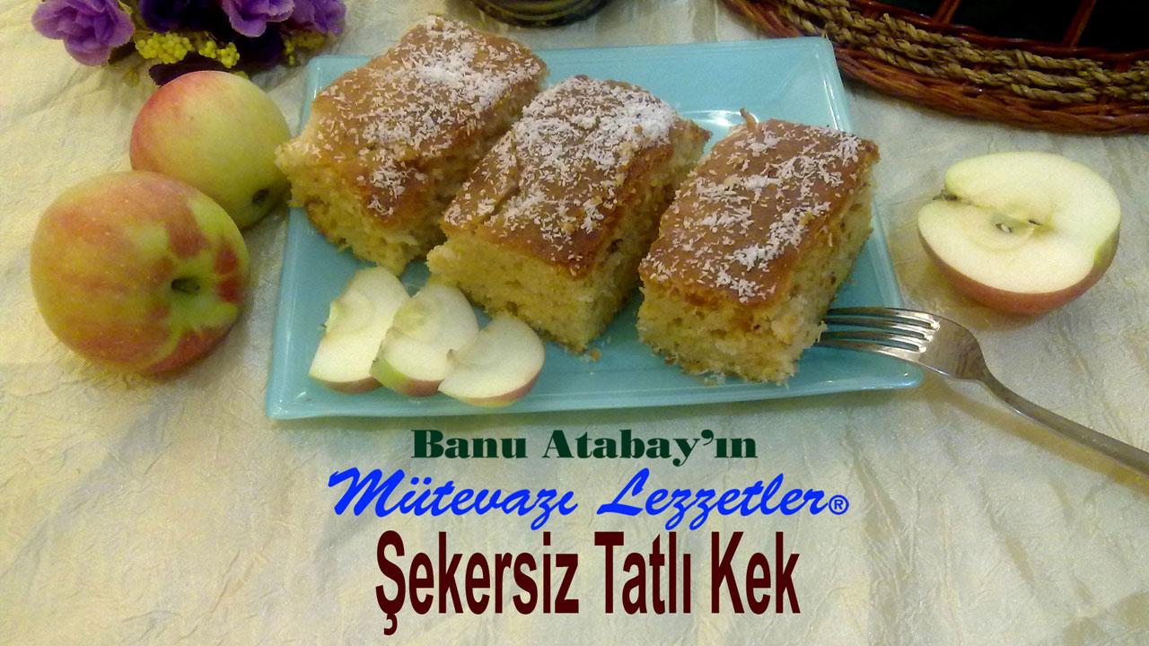 Şekersiz Tatlı Kek (görsel)
