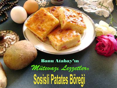 Sosisli Patates Böreği (görsel)