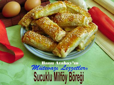 Sucuklu Milföy Böreği (görsel)