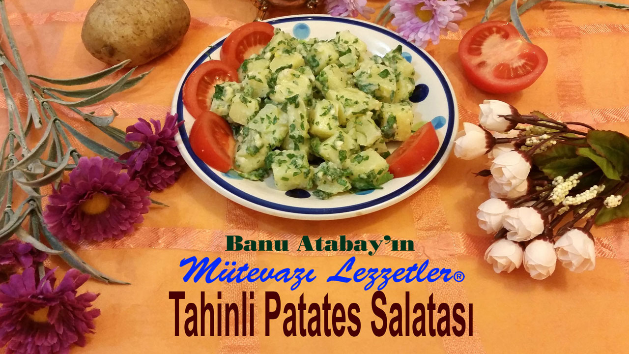 Tahinli Patates Salatası (görsel)