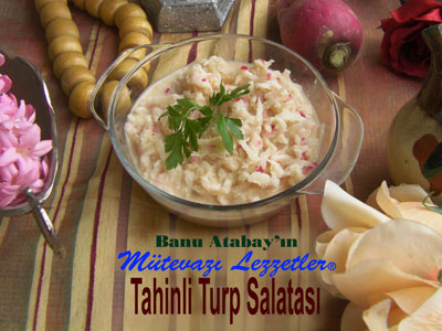 Tahinli Turp Salatası (görsel)