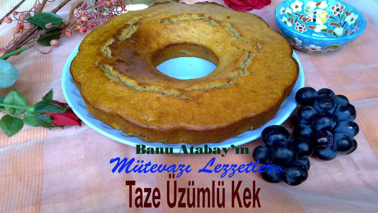 Taze Üzümlü Kek (görsel)