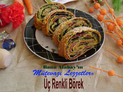 Üç Renkli Börek (görsel)